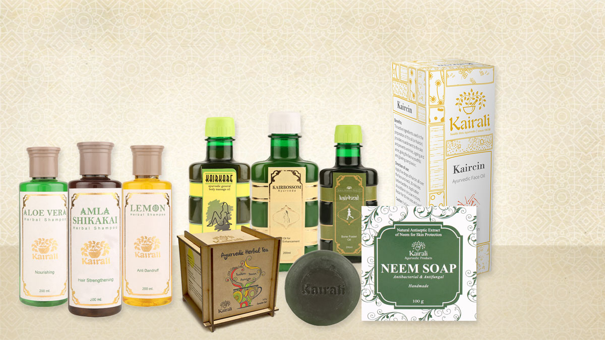 Kairali's Herbal Oils, Cosmetic Products & Herbal Tea